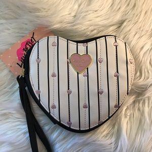 Betsey Johnson heart shape wristlet